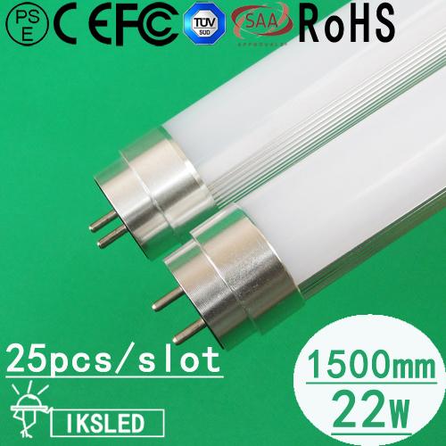 25pcs/slot T8 led tube 150cm 22W 1900LM high brightness European Market free shipping fedex 3 year warranty AC85~265V(China (Mainland))