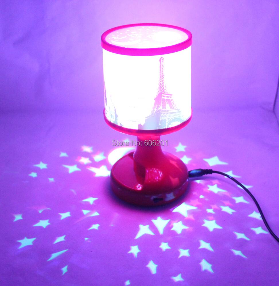 Eiffel Tower Usb Battery Led Novelty Projector Lamp Flash