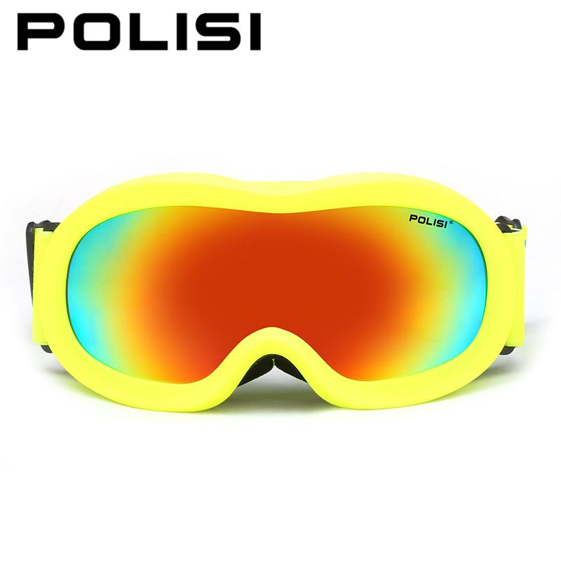 POLISI Winter Kids Ski Snowboard Goggles Children Boys Girls Outdoor Snow Glasses Polarized Anti-Fog Snowmobile Esqui Eyewear
