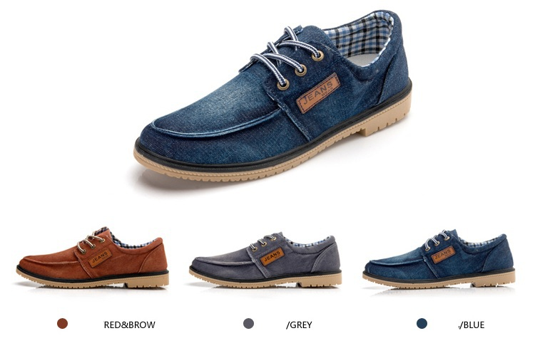 summer denim hot new 2014 brand korean men's shoes for men ...