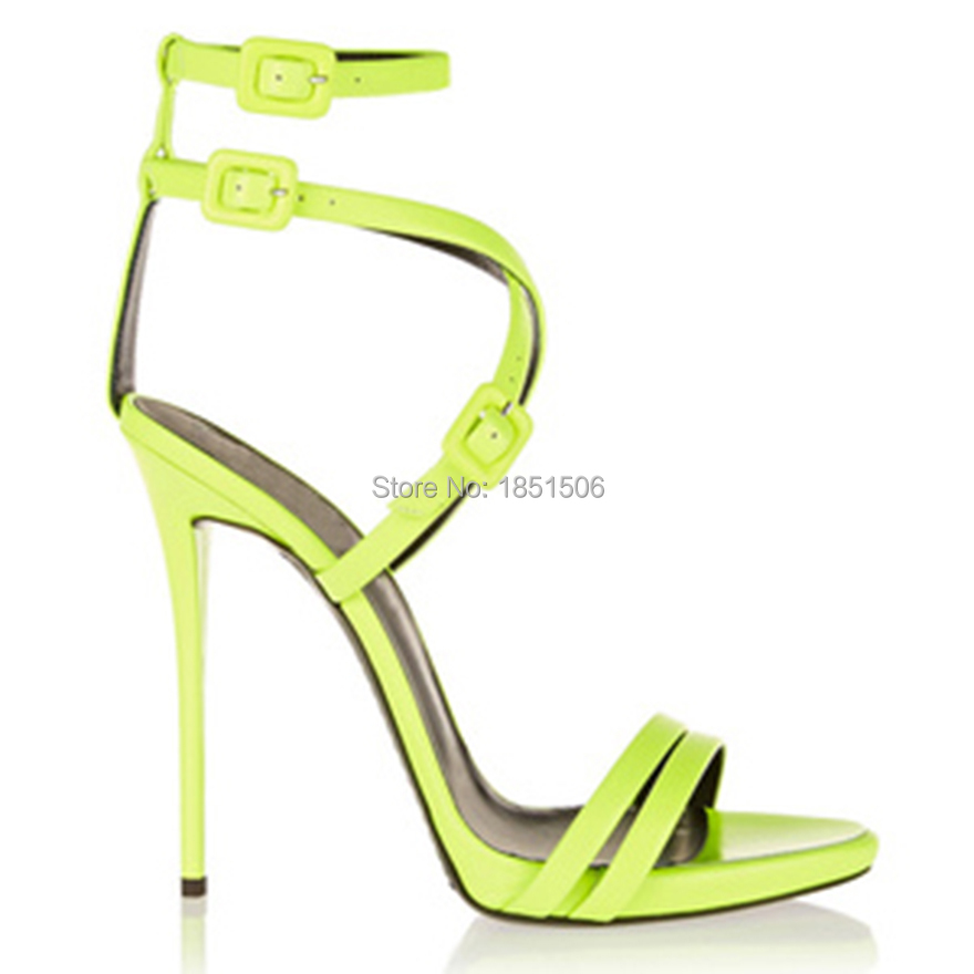 women sandals 2016 new fashion woman shoes Beautiful apple green high heel sandals shoes woman in women sandals shoes size 4-15<br><br>Aliexpress
