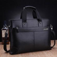 "Free shipping Fashion Men's Leather Messenger Bag Business Handbag Business Briefcase 14"" Laptop Shoulder Bag(China (Mainland))"