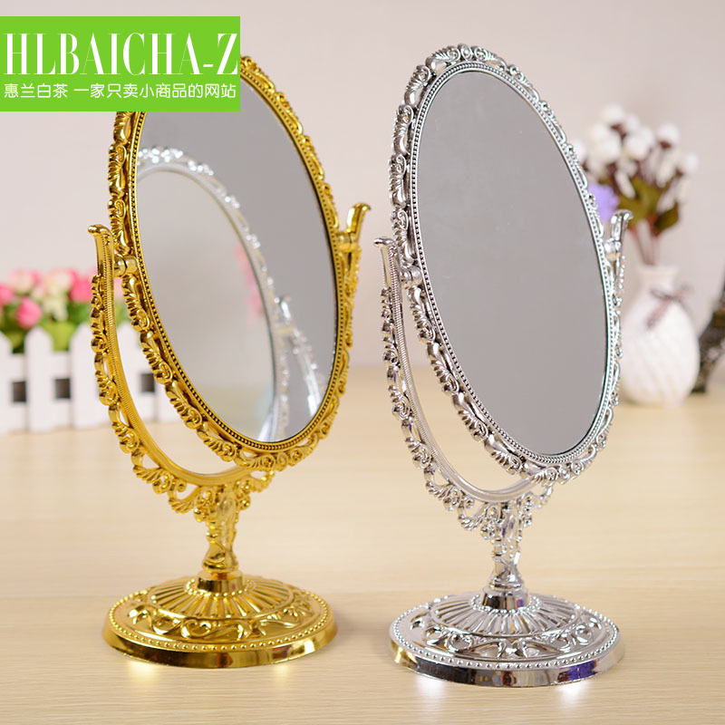 Cheap desktop upscale gold silver mirror desktop european for Cheap silver mirrors