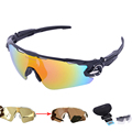 New 4 Lens Polarized Cycling Sunglasses Photochromic Racing UV400 Glasses Bicycle Bike Riding Eyewear Brand Designer