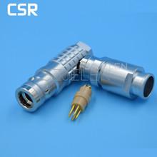 Medical Equipment 5 pin plug, LEMO Connector 5-pin plug , FHG.1K.305.CLAD,90 degree elbow plug,Communications product line plug