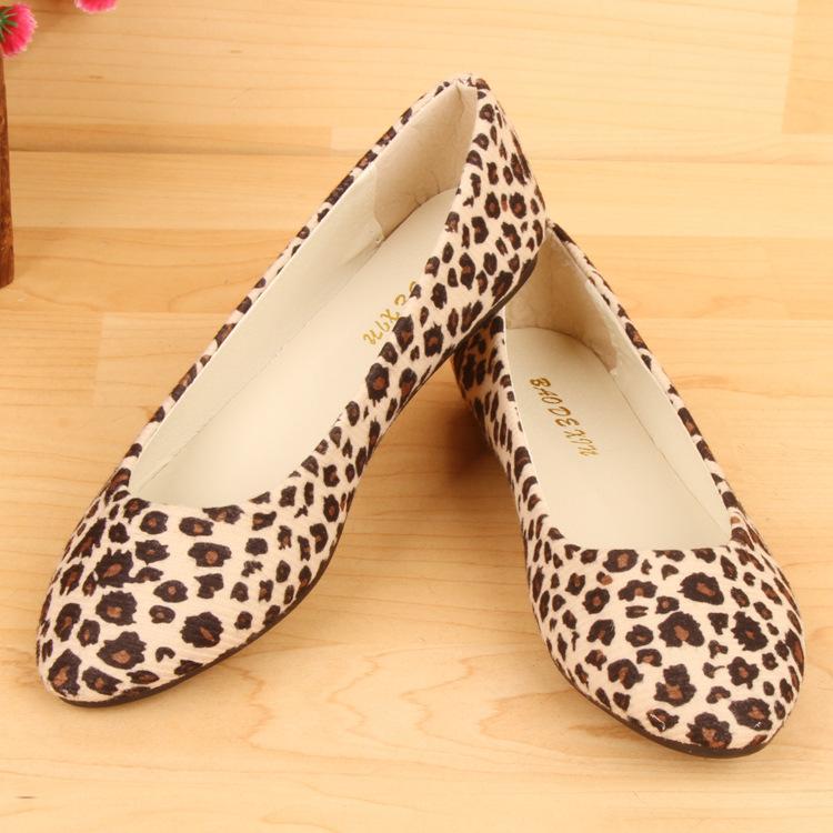 Moccasins 2015 Direct Basic Selling Pu Creepers Women Shoes Fashion Female Money Doug Wholesale Woman Single Flat New Leopard(China (Mainland))