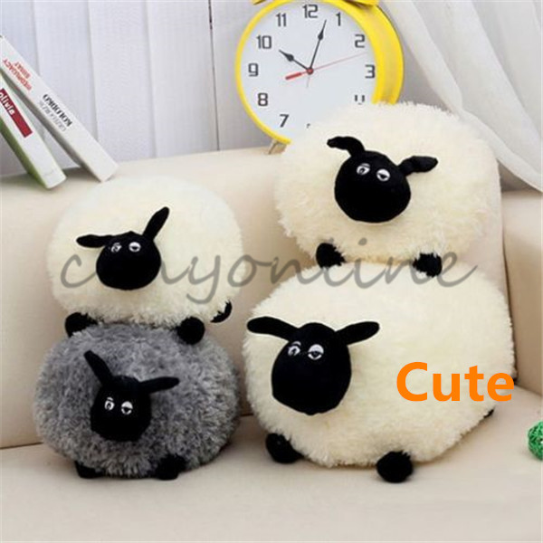 100% Top Quality Fashion Brand New 2Colors 30cm Cute Stuffed Soft Plush Toy Doll Sheep Lamb Character For Kids Baby Cushion Gift(China (Mainland))