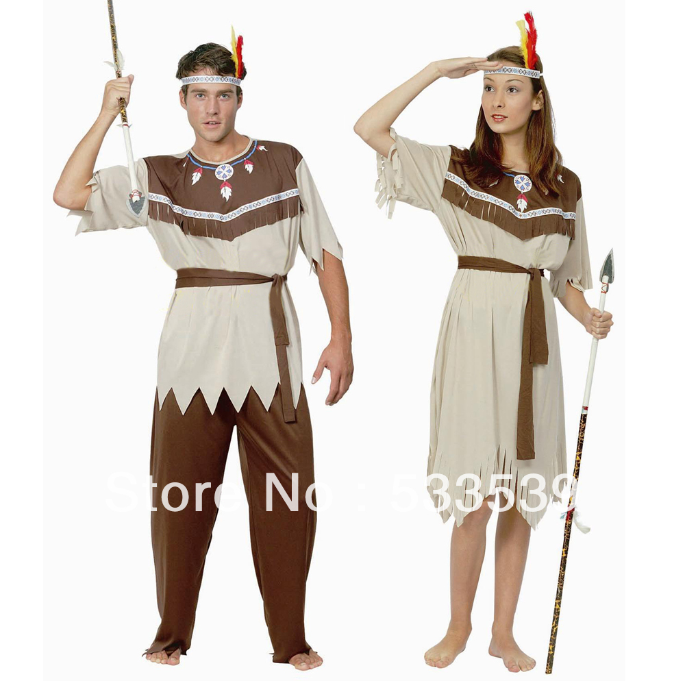 cosplay Indian Halloween Costumes Supplies dress Women,Men clothe Couples Costume - 4yourbestpartner Online Market store