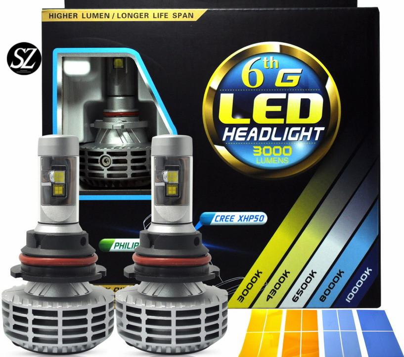 2016 super bright 6G G6 CREE H7 car Led Headlight lamp H4 H8 H9 H11 9005 9006 Hb3 Hb4 bulb headlamp motorcycle xenon kit sezom(China (Mainland))