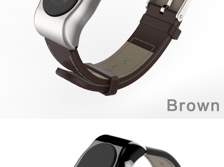 image for Mijobs PU Leather Strap For Xiaomi Miband 2 Wrist Strap Mi Band Smart