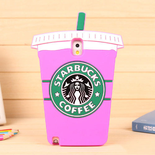 2015 Newest Cute 3D Coffee cup pattern soft Silicon back cover free shipping Phone case for Samsung Note 3 YC576(China (Mainland))
