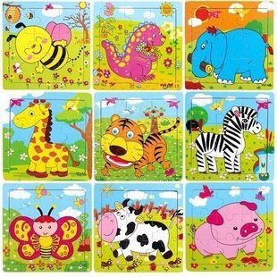 20pcs/lot Free shipping wooden puzzle housetoys children Jigsaw puzzle educational Toys Wholesale WJPF003