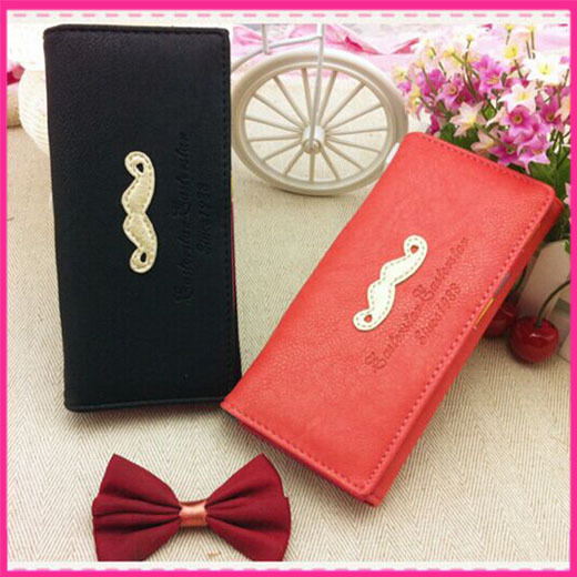 5 colors Fashion wallet lady's hand Grow a beard clasp wallet mobile phone packages Han women's Coin Purses wholesale handbags(China (Mainland))
