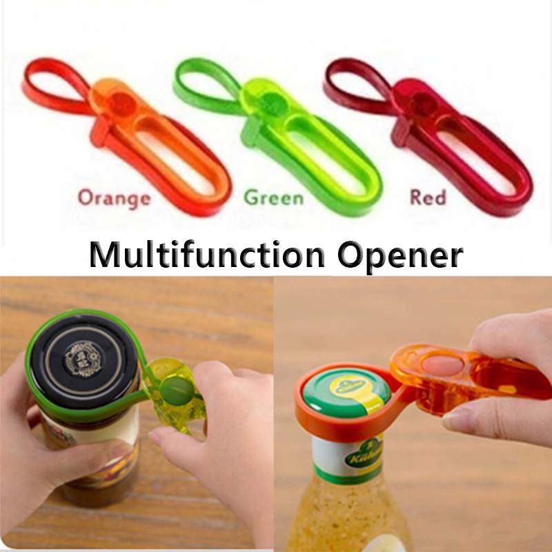 2016 New Simple Plastic Bottle Opener Europeanism Multifunctional Canned Screw Cap Europeanism Multifunctional Free Shipping(China (Mainland))