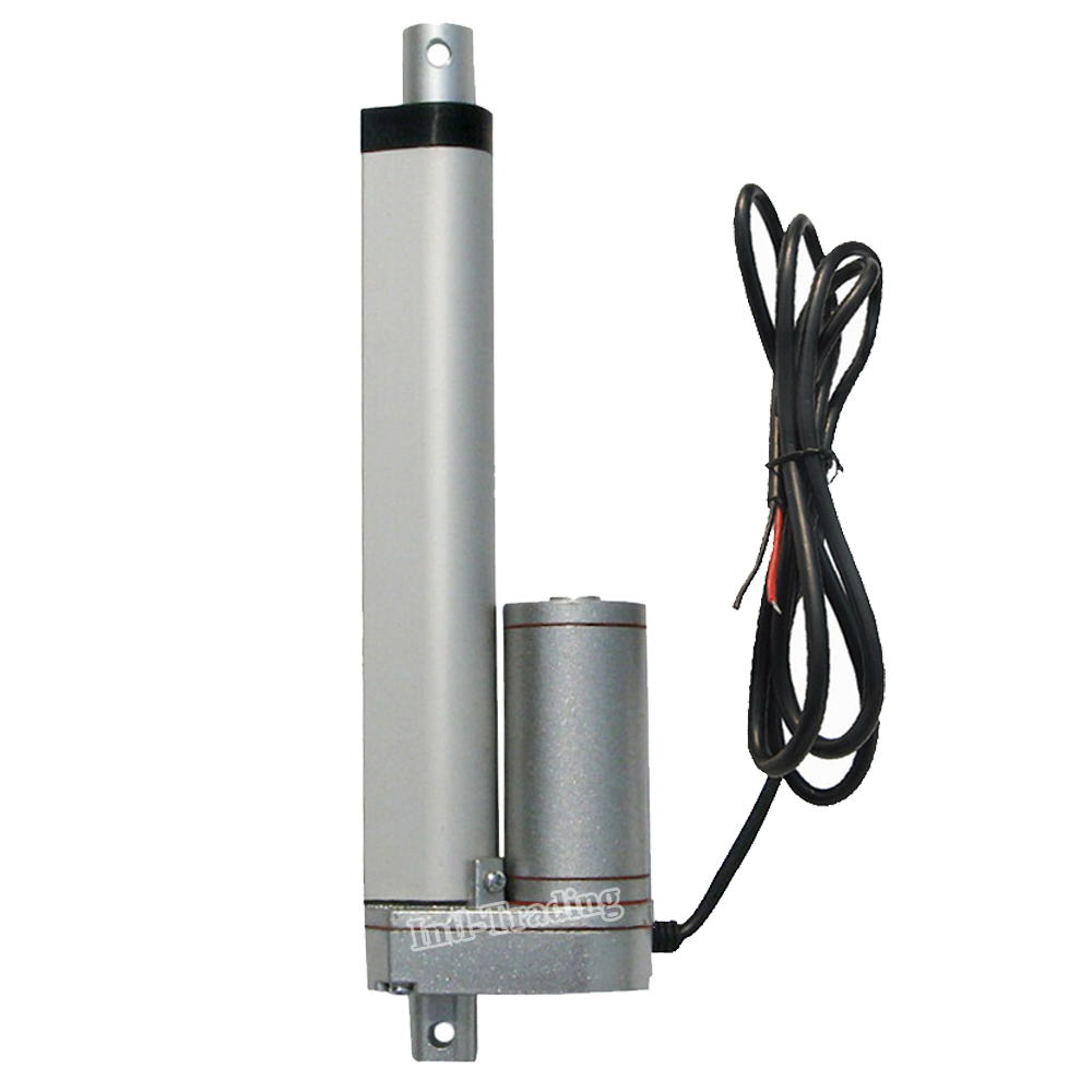 Heavy duty 150mm 6inch stroke1500n 330 pound load electric for Waterproof dc motor 12v