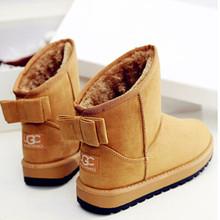 40% de descuento en invierno botas de mujer moda botas femininas UGC nieve botas mujer botas tobillo caliente 2015 nueva Bowtie zapatos de mujer de invierno(China (Mainland))