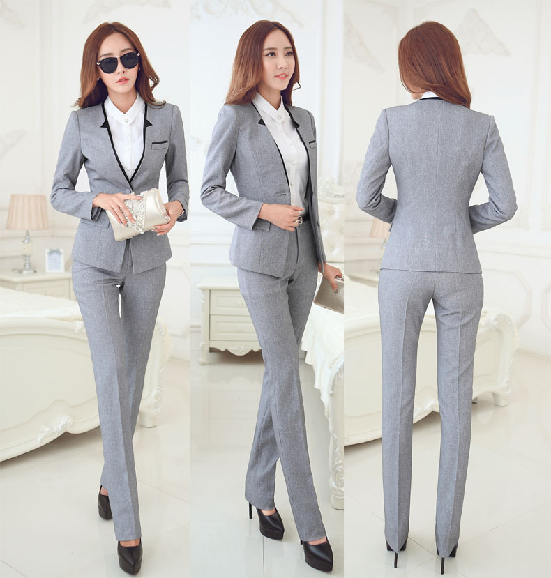 Popular Tahari Women39s Grey Belted Pant Suit  Overstock Shopping  Top