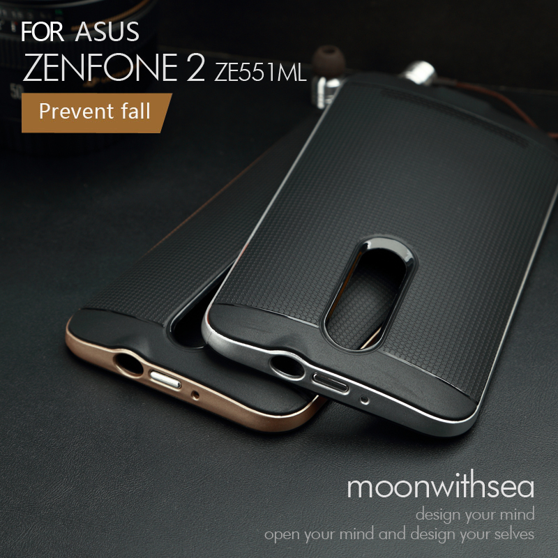 "Case For Asus Zenfone 2 ZE551ML ZE550ML (5.5"") amazing 2 in 1 design high quality PC+TPU material luxury mobile phone back cover(China (Mainland))"