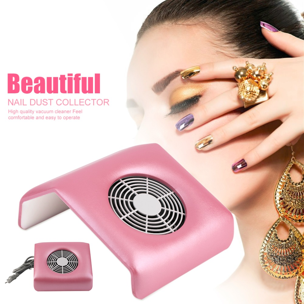 Professional Nail Dust Collector Machine Nail Vacuum Cleaner Portable Size Electric Nail Art Equipment Manicure(China (Mainland))
