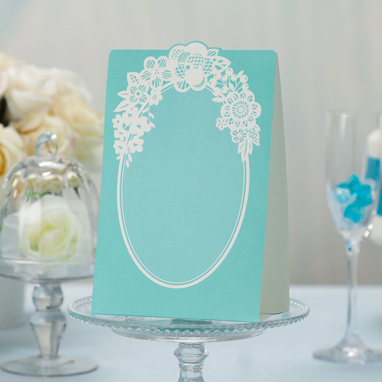 Non personalized light green wedding place cards for for Personalized wedding place cards