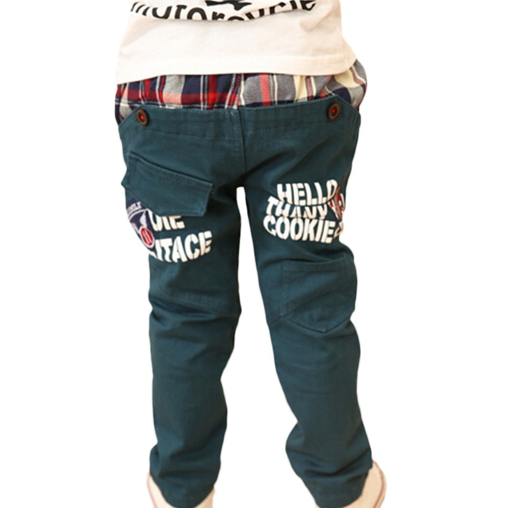 2015 New children pants baby boy's wearing korean styling fashion spring and autumn kid's causual trousers for 3-7 Years old(China (Mainland))