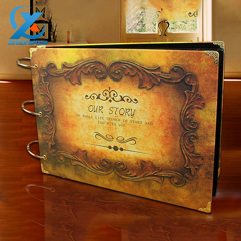 10 Our story Diy Vintage Christmas Gift Handmade Photo Album Wedding Stickers Scrapbooking Craft Paper Albums