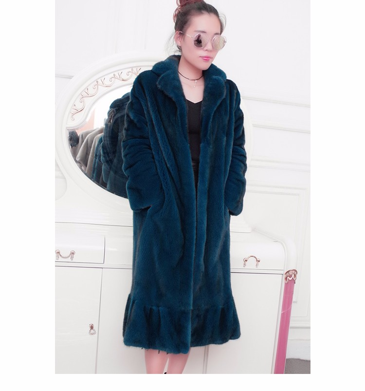 LVCHI customized Fur ladies' fashion Suit style mink coats Mink Fur suit Collar Mink fur coat from natural fur formal clothing