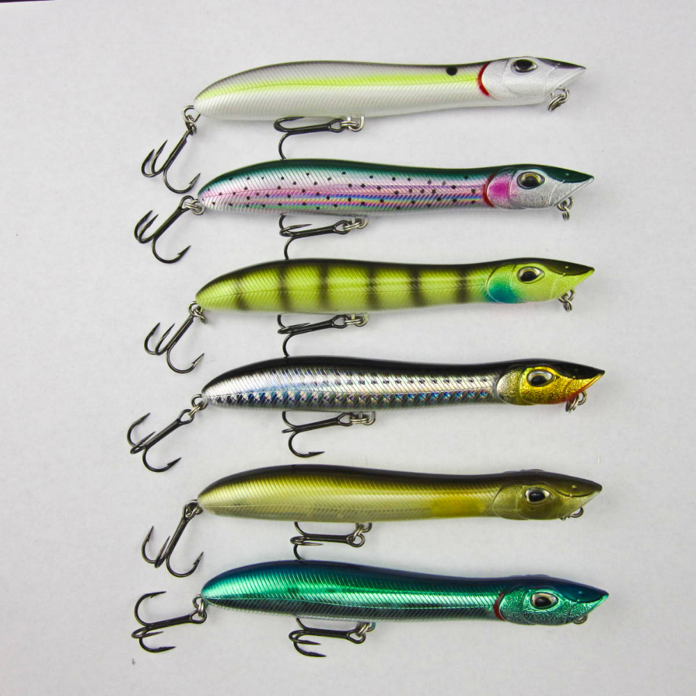 Fishing sinking crankbait sea bass pike lure pencil bait for Snake fishing lure
