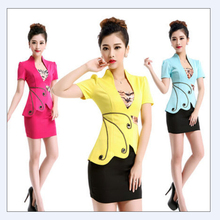 2015 New Arrival Autumn Business Women Suits Vest And Skirts Uniform Design Office ladies office uniform design free shipping(China (Mainland))