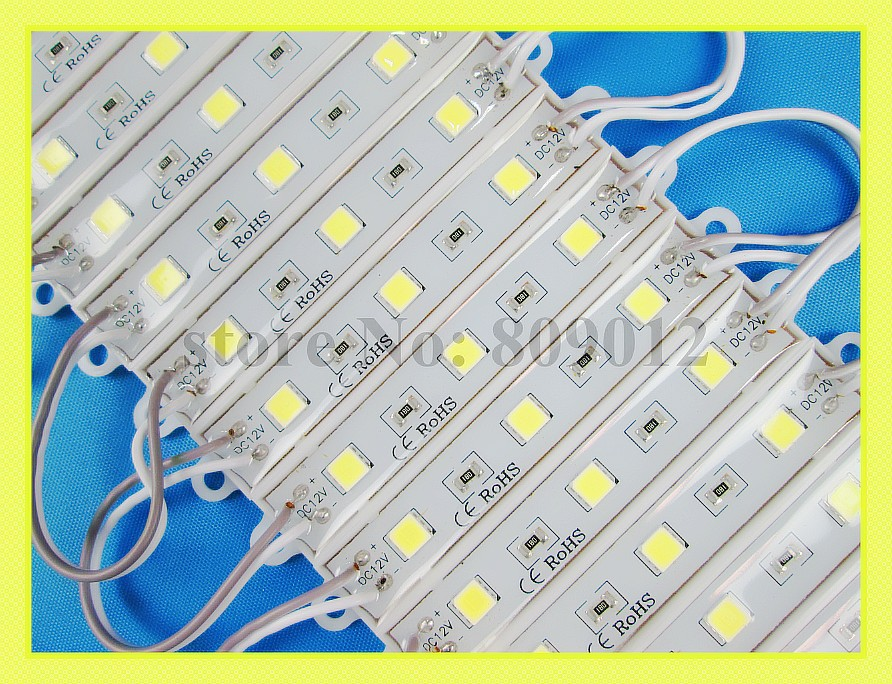 super bright SMD 5054 LED module backlight for lighting box sign letter DC12V 3led 1.2W 150lm IP66 75mm(L) * 12mm(W) * 6mm(H)(China (Mainland))