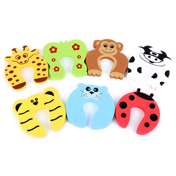 Super Baby Kids Animal Cartoon Jammers Stop Door Stopper Holder Finger Protect Guard(China (Mainland))
