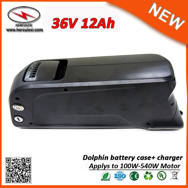 China Manufacturer 10S5P Li Ion Battery Pack 12Ah 500W E-Bike 36v Electric Bike Lithium Battery with Dolphin Case USB Port(China (Mainland))