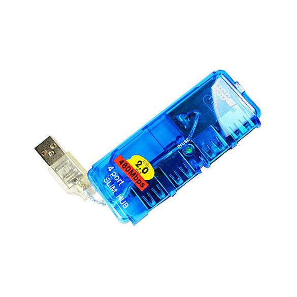 New 4 Port USB 2.0 HUB High Speed Laptop PC Slim B C  <br><br>Aliexpress