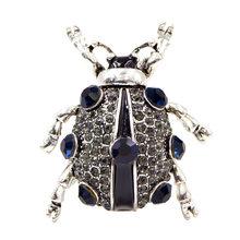 Cindy Xiang 3 Warna Tersedia Berlian Imitasi Beetle Bros untuk Wanita dan Pria Pengiriman Bug Bros Pin Fashion Perhiasan Hadiah Yang Bagus(China)