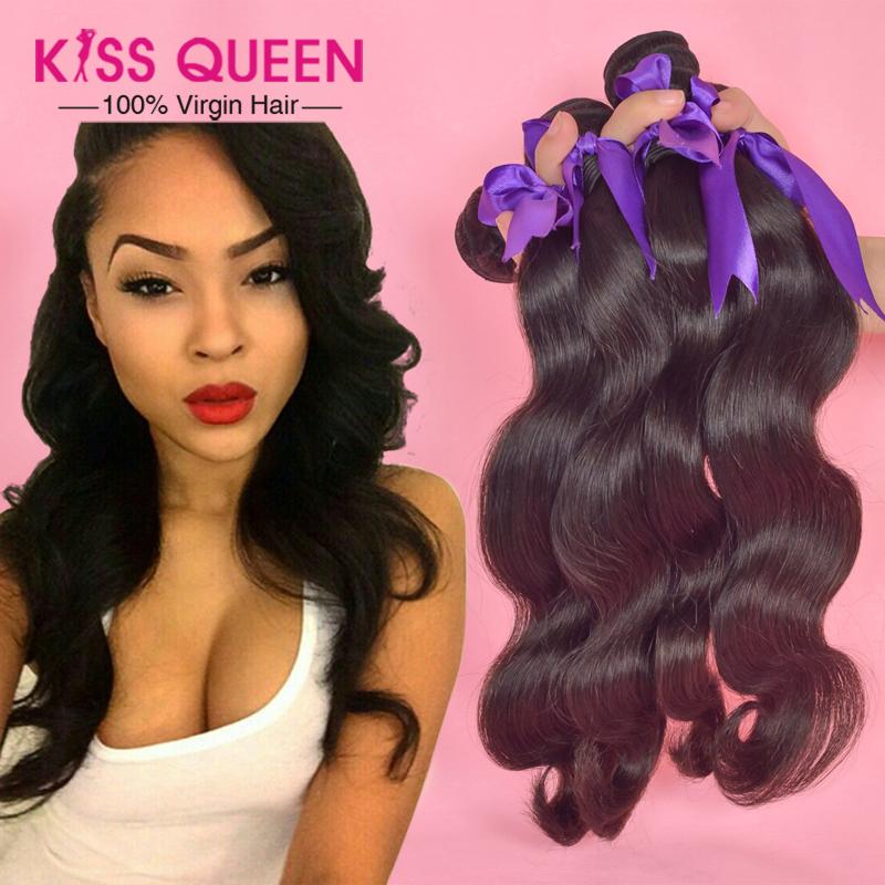 6A Unprocessed brazilian virgin hair body wave 4 pcs lot Queen hair products cheap brazilian hair weave bundles human hair Soft(China (Mainland))