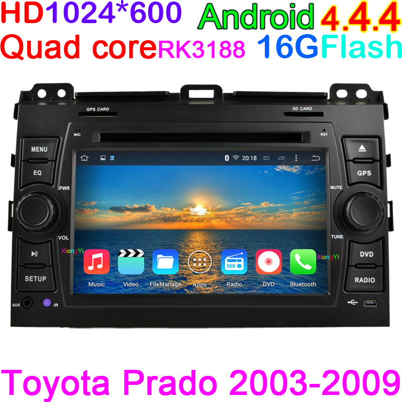 For toyota land cruiser prado 120 2002-2009 Android 4.4.4 Quad Core Auto radio DVD GPS WIFI Radio BT Bluetooth Phone Book Search(China (Mainland))