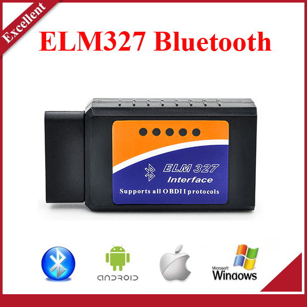 Hot ELM 327 V2.1 Interface Works On Android Torque Elm327 Bluetooth OBD2/OBD II Car Diagnostic Scanner 3 Years Warranty(China (Mainland))
