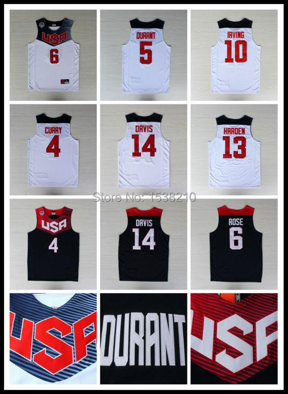 Free Shipping Stephen Curry Team USA Basketball Jersey 2014 Jersey Kevin Durant USA Basketball Derrick Rose Jersey Uniform Shirt(China (Mainland))