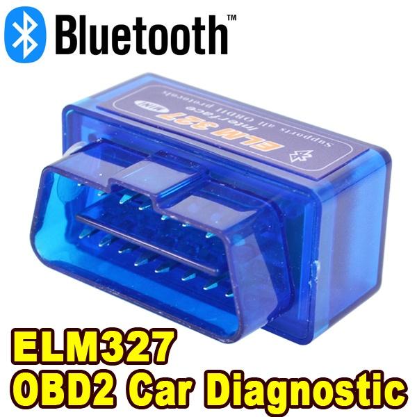 Universal Vehicle Diagnostic Tool Bluetooth ODB2 OBD2 II Scanner ELM327 V2.1 Interface Code Readers Smart Car ELM 327 Scan(China (Mainland))