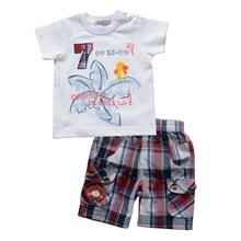 children Summer clothing set baby boy clothes kids cotton t shirt short pants boy clothes suit fits 3M-24M(China (Mainland))
