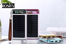 Solar Charger 20000Mah power bank Discolor powerbank three -USB Drop resistance portable External Battery For smartphone