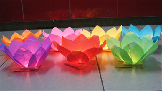 1000 X Free Shipping NEW Chinese Paper Lotus Flower Floating Lanterns(China (Mainland))