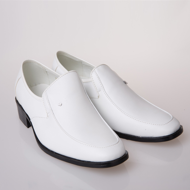 2015 fashion white leather shoes for simple