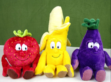 Free shipping New vegetables and fruits plush toy cherry and other early education toys(China (Mainland))