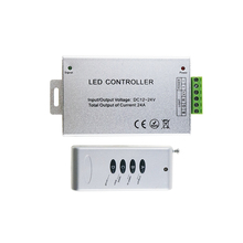 Buy DC12-24V RGB Control Wireless 4 Key 24A RF RGB Remote Controller Aluminum led for RGB LED Strip Light 5050 3528 high quality for $8.87 in AliExpress store
