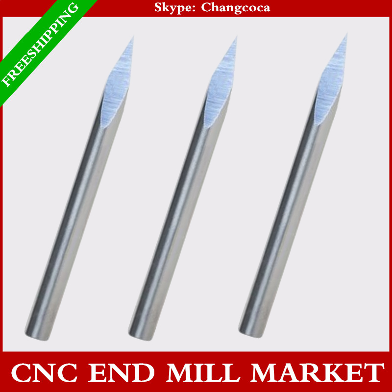 4mm*30degree,10pcs,3 sizes,CNC machine solid carbide end mill,milling cutter,Acrylic,Aluminum,copper,zinc,stainless steel,jade(China (Mainland))