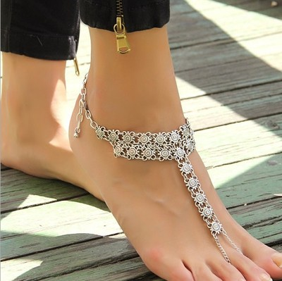 2017 Fashion Bohemia Barefoot Beach Sandals Bridal/Wedding Anklet Retro Cheville Foot Jewellery Beach Body Chain