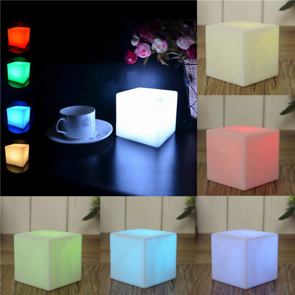 Brand New Romantic lighting LED Seven Colors Changing Mood Cubes Night Glow Lamp Light Gadget Gizmo Home Decoration Colorful(China (Mainland))