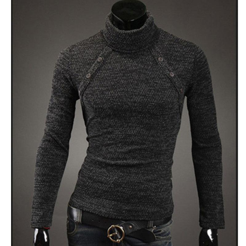 Sweater High Collar Sweater Men High Collar