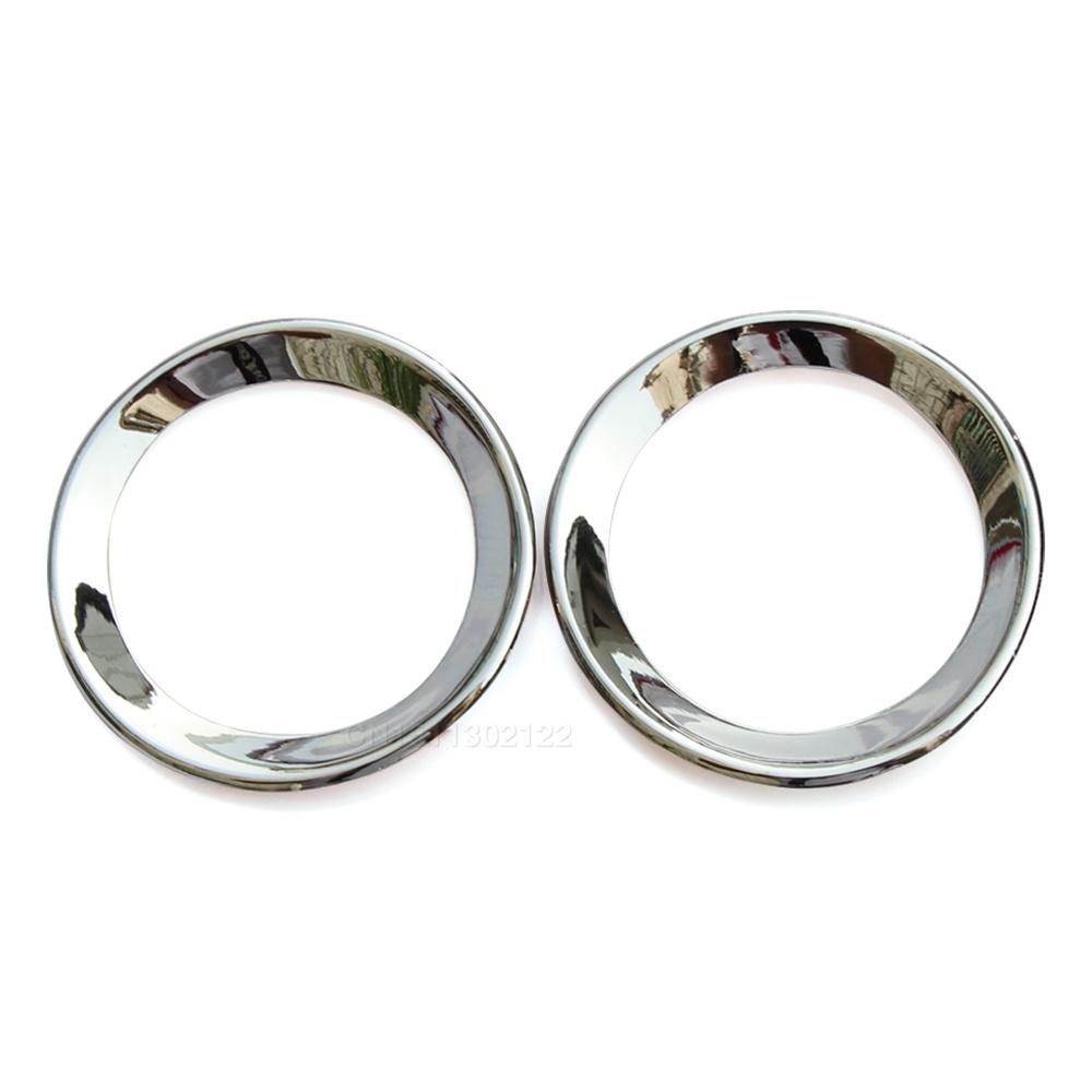2pcs/set ABS chrome trim audio ring car stickers door speaker decoration circle cover For Honda civic 9gen 2013 2014 auto parts(China (Mainland))